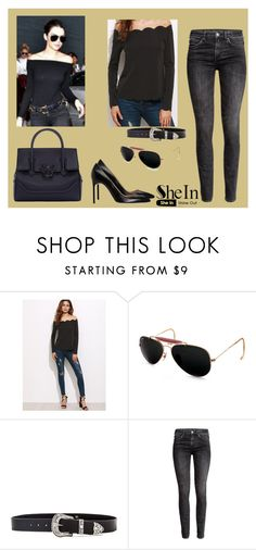 """Kendall Jenner"" by kendall-jenner-style ❤ liked on Polyvore featuring Ray-Ban, B-Low the Belt, H&M and Versace"