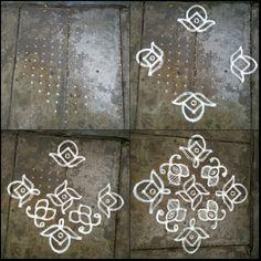 Rangoli designs/Kolam: [S.No 1 Ner Pulli Butterfly Kolam Rangoli Patterns, Rangoli Ideas, Rangoli Kolam Designs, Rangoli Designs With Dots, Rangoli Designs Images, Rangoli With Dots, Simple Rangoli, Dot Rangoli, Simple Flower Design