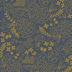 Jen Allyson - On Trend - Trend Floral in Navy Metallic