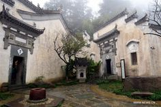 Photos taken on Nov. 13, 2016 show the Hui-style architecture in Wuyuan County, east China's Jiangxi Province.  http://www.chinatraveltourismnews.com/2016/11/hui-style-architecture-seen-in-wuyuan.html