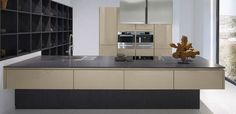 Cubanit gloss kitchens from the Pronorm Y Line range with a floating island