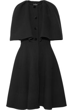 Dolce & Gabbana|Wool-blend felt cape-style coat