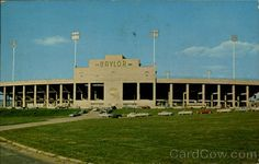 Cool old postcard of Floyd Casey Stadium (then #Baylor Stadium) from 1964