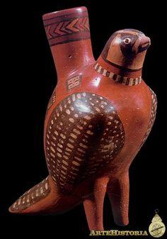 Vaso en forma de pájaro (Wari, Perú) Autor: Fecha: 600-1000 Museo: Características: Estilo: Material: Cerámica Pintada