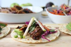 Apple Cider-Ginger Braised Pork Shoulder Tacos with Apple-Cabbage Slaw recipe on Food52