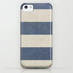 vintage dark blue stripes iPhone & iPod Case