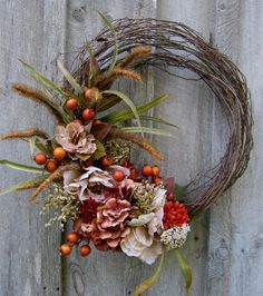Fall Wreath, Autumn Wreath, Woodland, Thanksgiving Décor, Floral Wreath, Elegant Holiday Wreath