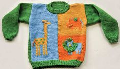 Free Pattern in sizes 2, 4, and 6.  Ravelry: Animal House Pullover (W299) pattern by Amy Bahrt