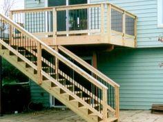 Attrayant Exterior Stair Railing, Deck Railings, Exterior Tiles, Deck Railing Design,  Front Porch
