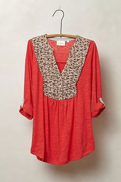 Interlude Henley #anthropologie
