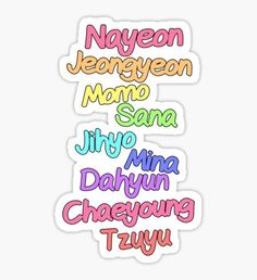 Twice Kpop Stickers Band Stickers, Pop Stickers, Anime Stickers, Printable Stickers, Nayeon, Plain Pink Background, Kpop Logos, Song Lyrics Wallpaper, Twice Fanart