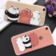 Animal de Bande Dessinée Pour iPhone 7 Cas Mignon Panda, Pour iPhone7 6 6 S , free shipping