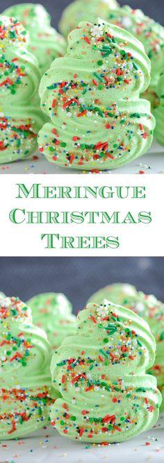 "Meringue Christmas Trees - a light crispy ""cookie""!"