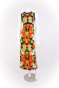 SALE Vintage 1960s 60s Sleeveless Maxi Dress Size Small / 60s Leslie Fay Mosaic Maxi Dress - 2 /4. $98.00, via Etsy.