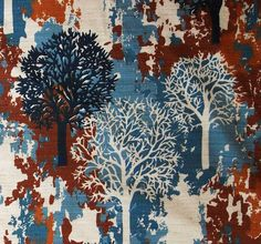 Mid Century Fabric Modern 2 yds Mod Retro Vintage Danish Barkcloth Seppala Era | eBay