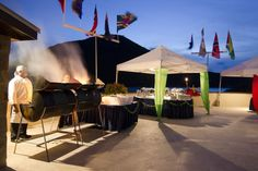 BBQ grills steak and lobster on Scrub Island #BVI BVIevent #events #beacevents