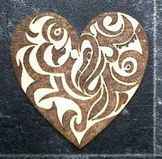 Swirly Pyrography Design On Coaster by ~PyroScorch on deviantART