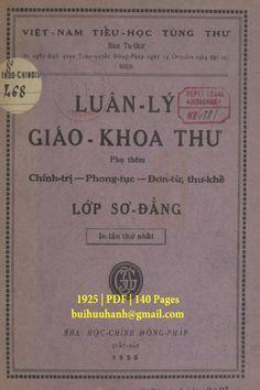 Luân Lý Giáo Khoa Thư Lớp Sơ Đẳng (NXB Nha Học Chính 1925) - Trần Trọng Kim, 140 Trang | Sách Việt Nam Personalized Items