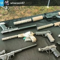 #Repost @whanson87 ・・・ Some cool cans by @stealthengineeringgroup. They had a really nice collection of guns and suppressors.