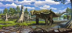 Europelta lived in the woodlands of western Europe, during Middle Cretaceous (110-100 million years ago).It was about 15 feet long and weighed 2 tons.