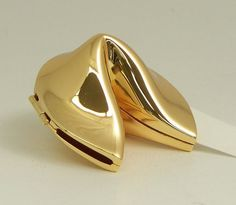 Gold Plated Fortune Cookie Box