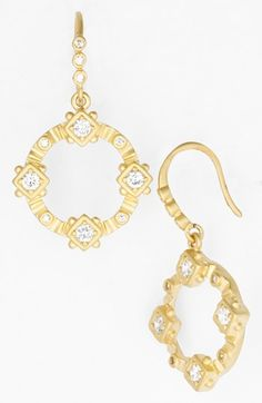 Freida Rothman 'Femme' Circle Drop Earrings available at #Nordstrom