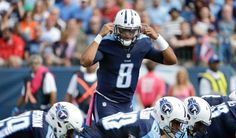 Browns vs. Titans:      October 16, 2016  -  28-26, Titans  -    Tennessee Titans quarterback Marcus Mariota (8) calls a play against the Cleveland Browns in the first half of an NFL football game Sunday, Oct. 16, 2016, in Nashville, Tenn.