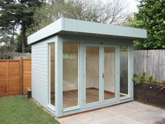 Our modern, high-quality Salthouse Garden Studio is ideal for use as a Garden Office, Hobby Room, Garden Retreat or even a Garden Gym. Hand-built to your requirements, discover our range online today. Delivery and installation included. Backyard Office, Backyard Studio, Backyard Sheds, Garden Studio, Backyard Retreat, Garden Office, Backyard Landscaping, Garden Sheds, Gym Shed