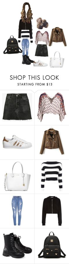 """Untitled #9700"" by lover5sos ❤ liked on Polyvore featuring RE/DONE, adidas, Michael Kors, Boutique Moschino and Givenchy"