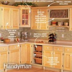 DIY:  6 Simple Upgrades You Can Do To Your Kitchen Cabinets.