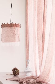 If it's romance, femininity, or a touch of whimsy you are looking to add to your room our pure linen lampshades and curtain sheers now come in our gorgeous clay pink, Rosa