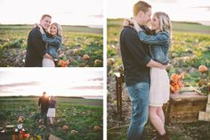 darling pumpkin patch engagement session. Photo by White Willow Photography.
