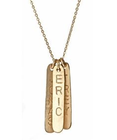 Nashelle Identity Bars Necklace - so perfect for Mother's Day