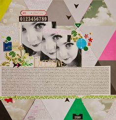 """#papercraft #scrapbook #layout. """"Excessive"""" - DT Color Your Word"""
