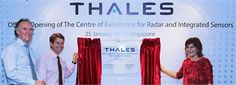 Netherlands' Minister Liliane Ploumen opens the Thales Centre of Excellence for Radar and Integrated Sensors