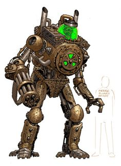 The official gallery and store of artist Colonel Tony Moore Steampunk Robots, Steampunk Characters, Steampunk Weapons, Fantasy Characters, Robot Concept Art, Creature Concept Art, Creature Design, Fantasy Character Design, Character Design Inspiration
