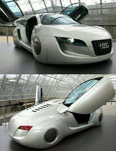 Este Audi es el Carro Concepto del Día, completamente increíble un diseño muy futurista, parece que fuera un carro volador.