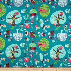 Fairyville Pixie Town Blue from @fabricdotcom  Designed by Heather Rosas for Camelot Fabrics, this licensed cotton print fabric is perfect for quilting, apparel and home decor accents. Colors include burgundy, shades of pink and shades of aqua blue.