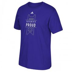 Sacramento Kings Proud adidas Purple NBA Official Mens T-Shirt