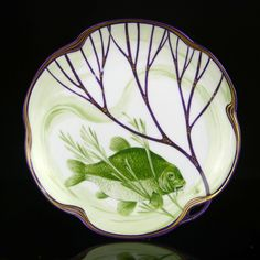 ** Hermann Gradl, Fish Platter, Nymphenburg, 1900.