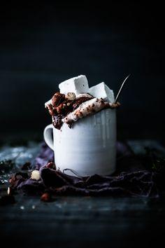 Hazelnut Crunch Hot Chocolate with Raw Cacao