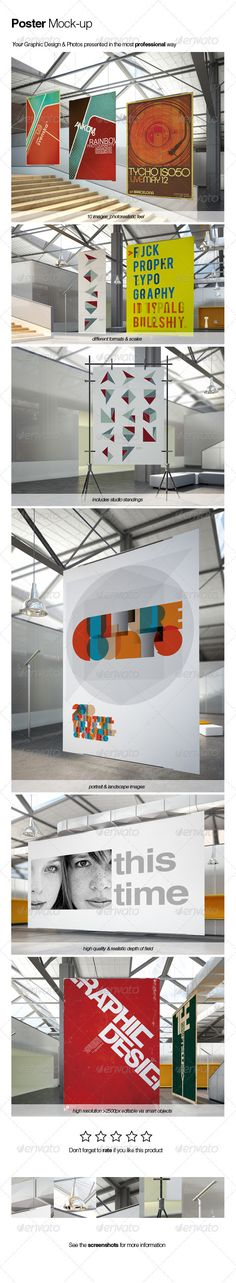 Poster Mock-up #GraphicRiver Poster mock-up Features: 11 images (5 different formats and sizes)