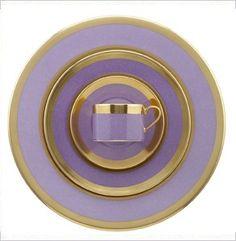 Lavender Cottage •~• Lavender & Gold Place Setting