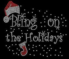 Bling on the Holidays Rhinestone Shirt by SweetSerendipityShop