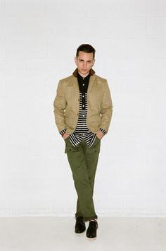 Greens and muted tones / Publish Fall 2013 / GQ / #nyfw