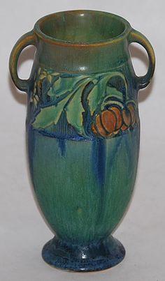 Roseville Pottery Baneda Green Vase 588-6