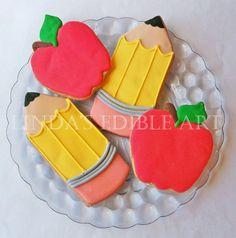 Back to School Cookies by LindasEdibleArt on Etsy