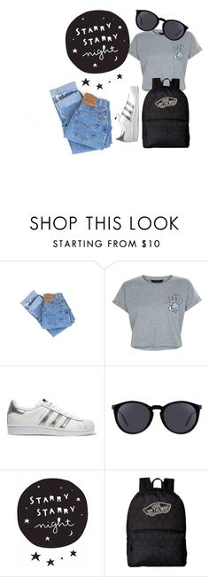 """""""Street"""" by yixingunicorn on Polyvore featuring Levi's, New Look, adidas Originals, Yves Saint Laurent and Vans"""