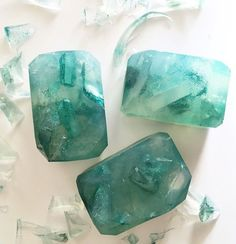 green clover fairy crystal soap