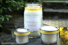 Como fazer velas de citronela soja